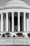 Jefferson pomnik z Thomas Jefferson w widoku w czerni i wh Zdjęcia Stock
