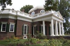 Jefferson's Monticello. Thomas Jefferson's residence, Monticello, in Charlottesville, Virginia Royalty Free Stock Photo