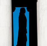 jefferson silhouette thomas Royaltyfria Bilder
