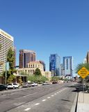 Jefferson Street in Phoenix de stad in royalty-vrije stock afbeeldingen