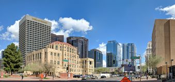 Jefferson Street in Phoenix downtown, AZ Stock Image