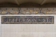 Jefferson Street Station - NYC-gångtunnel Royaltyfria Foton