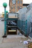 Jefferson Street Subway Station in Brooklyn Stock Image