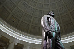 Jefferson up close. Thomas Jefferson memorial in Washington D.C stock photos