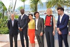 Jeffrey Katzenberg et Djimon Hounsou et America Ferrera et Kit Harington et Cate Blanchett et Jay Baruchel Images libres de droits
