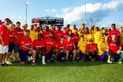 Jeffrey Osborne Foundation Softball Game 2014 Team Picture royaltyfri foto
