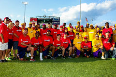 2014 Jeffrey Osborne Foundation Softball Game Team Picture. Royalty Free Stock Photo