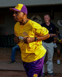 Jeffrey Osborne is introduced to the crowd at McCoy Stadium. Singer Jeffrey Osborne is introduced to the crowd at his Celebrity Softball Game at McCoy Stadium Royalty Free Stock Images