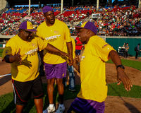 Jeffrey Osborne, Magic Johnson and Cedric the Entertainer. Royalty Free Stock Photography