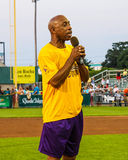 Jeffrey Osborne sings the National Anthem. Royalty Free Stock Images