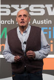 Jeffrey Tambor's Actor's Workshop at SXSW 2014. Jeffrey Tambor takes a question from an audience member during his Actor's Workshop at SXSW 2014 Royalty Free Stock Images