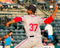 Jeffry Fernandez, Greenville Drive. Greenville Drive pitcher Jeffry Fernandez delivers a pitch against the Charleston RiverDogs Royalty Free Stock Images
