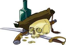 Jego imię był Szczęsliwy, on był piratem Obrazy Stock