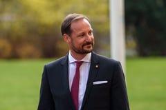 Jego Królewskiej wysokości książę koronny Haakon i jej Królewskiej wysokości następczyni tronu Mette-Marit królestwo Norwegia fotografia stock
