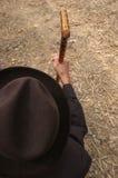 jego laska stary człowiek gospodarstwa, Zdjęcia Stock