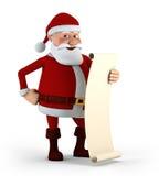 jego spisuje Santa ilustracji