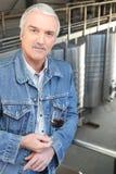 jego właściciela degustaci wino Fotografia Stock