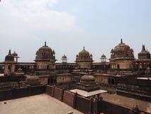 The Jehangir Mahal, Orchha Fort, Religia Hinduism, ancient architecture, Orchha, Madhya Pradesh, India. The Jehangir Mahal, Orchha Fort, Religia Hinduism stock photos
