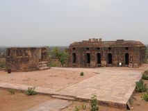Jehangir Mahal, Orchha fort, Religia Hinduism, forntida arkitektur, Orchha, Madhya Pradesh, Indien arkivfoto