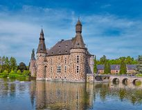 Jehay castle, Belgium. The ancient castle of Jehay in Belgium, near Liege royalty free stock photos