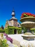 Jehay slott eller Jehay-Bodegnee slottporthus, Belgien arkivbilder
