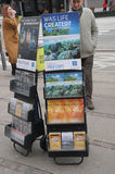 JEHOVA WITNESS STAND IN DENMARK Stock Images