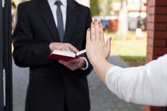 Jehovah's witness wants to evangelize Royalty Free Stock Photos