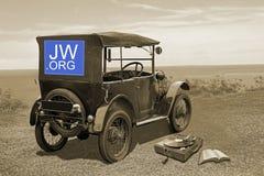 Jehovahs-Zeuge-Vergangenheit und Gegenwarts-Religion lizenzfreie stockbilder