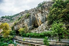 Jeita-Grotten-Kalkstein höhlt 01 aus lizenzfreie stockbilder
