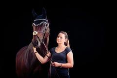 jej końska kobieta Fotografia Royalty Free