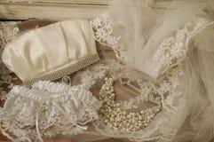 Jej Ślubne rzeczy Zdjęcie Royalty Free