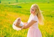 jej matka dziecka Zdjęcie Stock