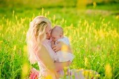 jej matka dziecka Zdjęcia Royalty Free