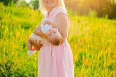 jej matka dziecka Fotografia Royalty Free