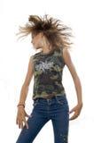 jej włosy g - girl machał nastolatków. obrazy royalty free