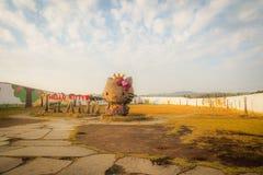 Jeju ö, Korea - November 12, 2016: De turist- besökte HELNA Royaltyfri Bild