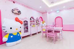Jeju, ΝΟΤΙΑ ΚΟΡΕΑ 27.2016 Σεπτεμβρίου: Γειά σου μουσείο νησιών γατακιών, καφές σε Jeju Στοκ Φωτογραφία