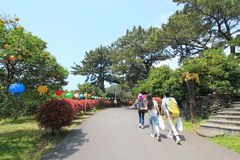 Jeju city street view in South Korea royalty free stock photography