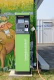 Jeju-Do, Corée - 10 avril 2015 : Station de charge pour c électrique Photographie stock libre de droits