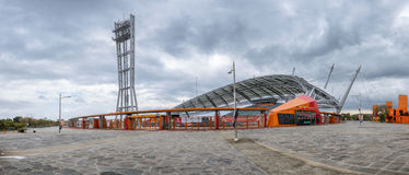 Jeju-Do Korea - April 13, 2015: Stadion för 2002 världscup i Jeju Royaltyfri Fotografi