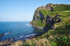Jeju do. Seongsan Ilchulbong Peak [UNESCO World Heritage] in Jeju Royalty Free Stock Photo