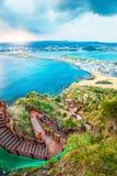 Jeju doet strandeiland, Zuid-Korea Royalty-vrije Stock Foto's