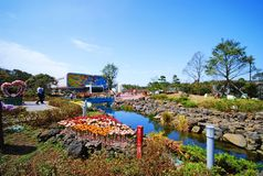 Jeju Glass Castle. Jeju Island - South Korea ,  is a glass art theme park. Visitors to  can even experience making glass artwork Stock Images