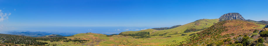 Jeju Halla Mountain, Yeongsil Route. The view of Halla Mountain. Halla Mountain with the altitude of 1900 meters locates in Jeju, Korea, which is the highest Royalty Free Stock Photo