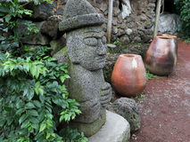 Jeju Island earth God Stock Images