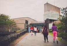 Jeju Island, KOREA - OCTOBER 12: The Osulloc tea museum is the f Royalty Free Stock Photos