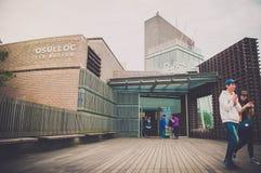 Jeju Island, KOREA - OCTOBER 12: The Osulloc tea museum is the f Stock Photography