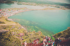 Jeju Island, KOREA - OCTOBER 12: SONGSAN ILCHULBONG in Jeju do ,. South Korea - 12 OCTOBER 2014 stock photos