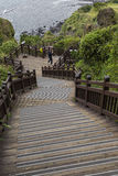 JEJU ISLAND - OCTOBER 25, 2016: Long stairways down the hill,Jej Stock Photography