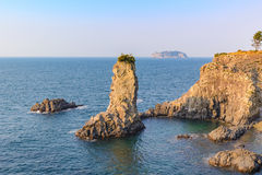 Jeju Island. Oedolgae Rock, Jeju Island, South Korea Royalty Free Stock Image